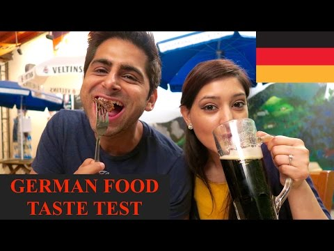 GERMAN FOOD FOR THE FIRST TIME  | CURRYWURST | SAUERBRATEN | MUKBANG