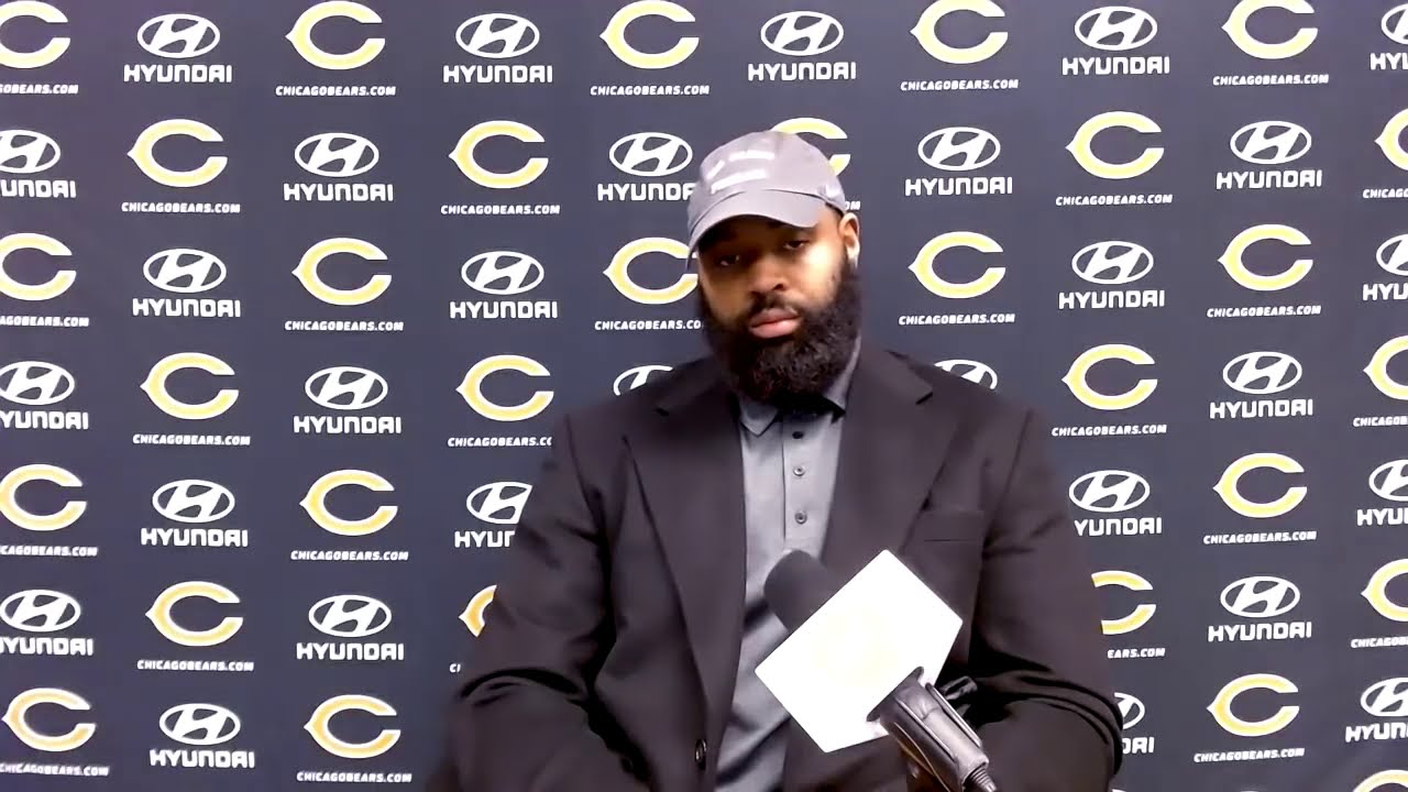 Akiem Hicks doesn't crack answering tough question after 26-23 OT L to Saints