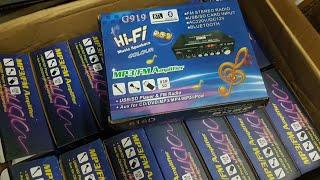 Combo  amply karaoke bluetooth 12v và míc không dây trên oto chỉ 1tr150k