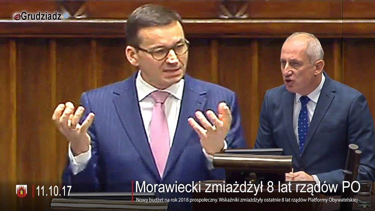 Morawiecki zmiażdżył 8 lat rządów PO. Wskaźniki mówią same za siebie