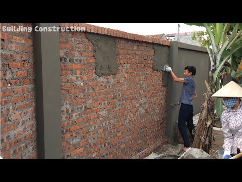 How To Build A Fastest Fence Using Sand And Cement - Traditional Craft Building Tips