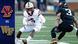 Boston College vs. Wake Forest Football Highlights (2016)