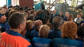 "Лукашенко в Могилеве посетил завод ""Строммашина"""