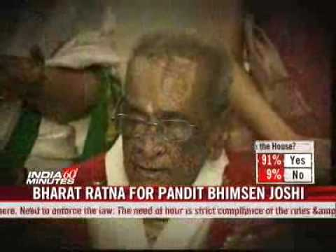Bhimsen Joshi Presented With Bharat Ratna