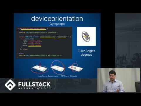 Tech Talk: JavaScript Device APIs