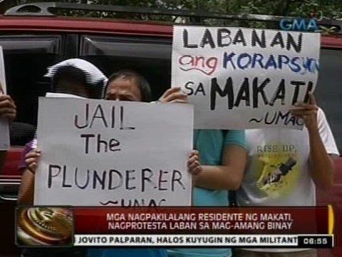 24 Oras: Dagdag-reklamo laban sa mag-amang Binay, inihain sa Ombudsman