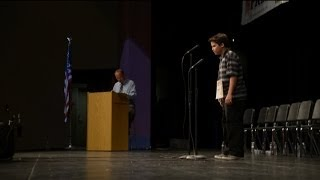 Imperial Valley students take stage for regional spelling bee.