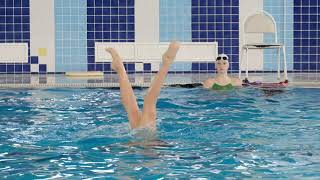 Синхронное плавание. Гордеева Анна. Тренировка.