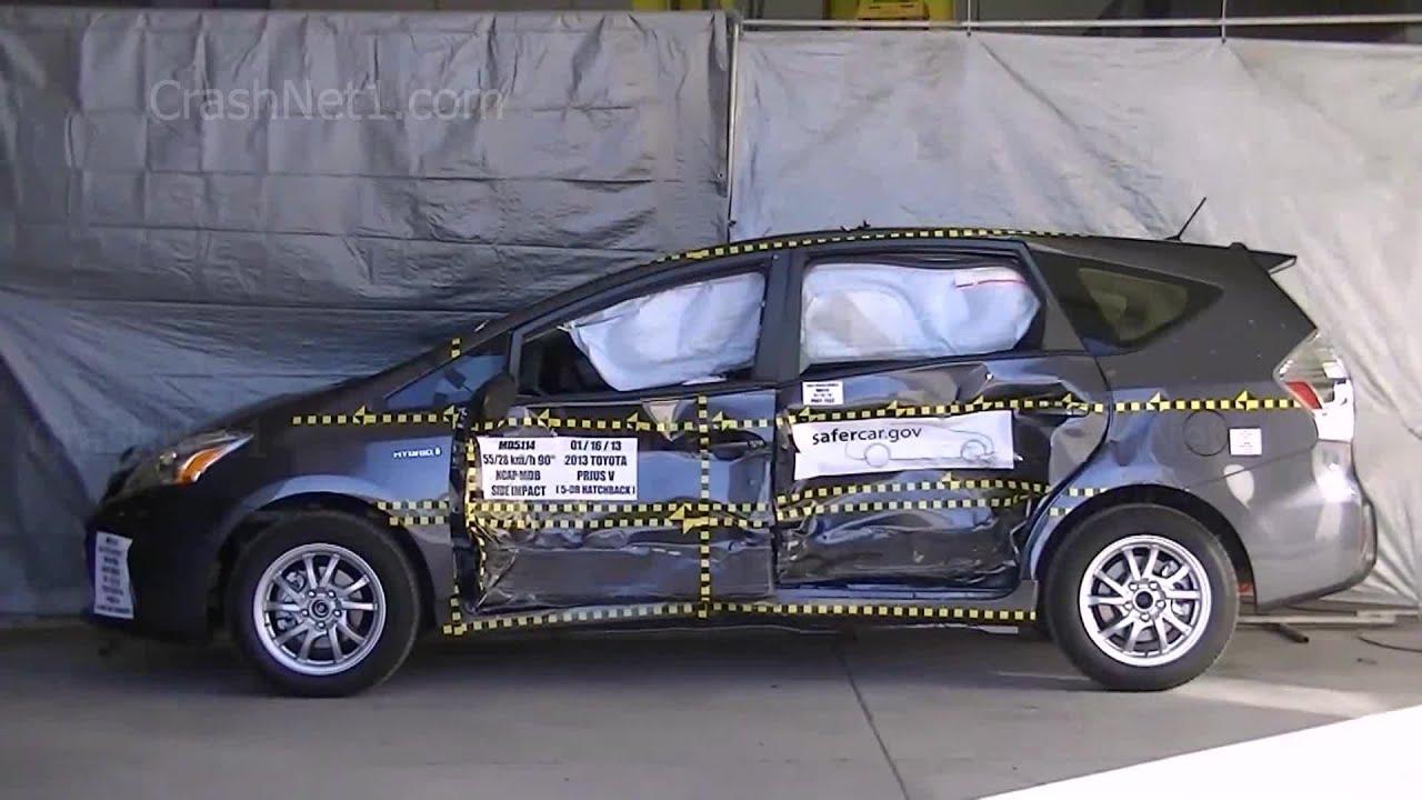 2013 toyota prius v documentation for side crash test nhtsa crashnet1