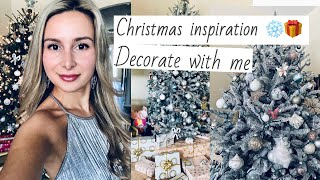 CHRISTMAS TREE DECORATIONS 2019!/DESIGN IDEAS/BLUCH PINK,WHITE,SILVER,ROSE GOLD