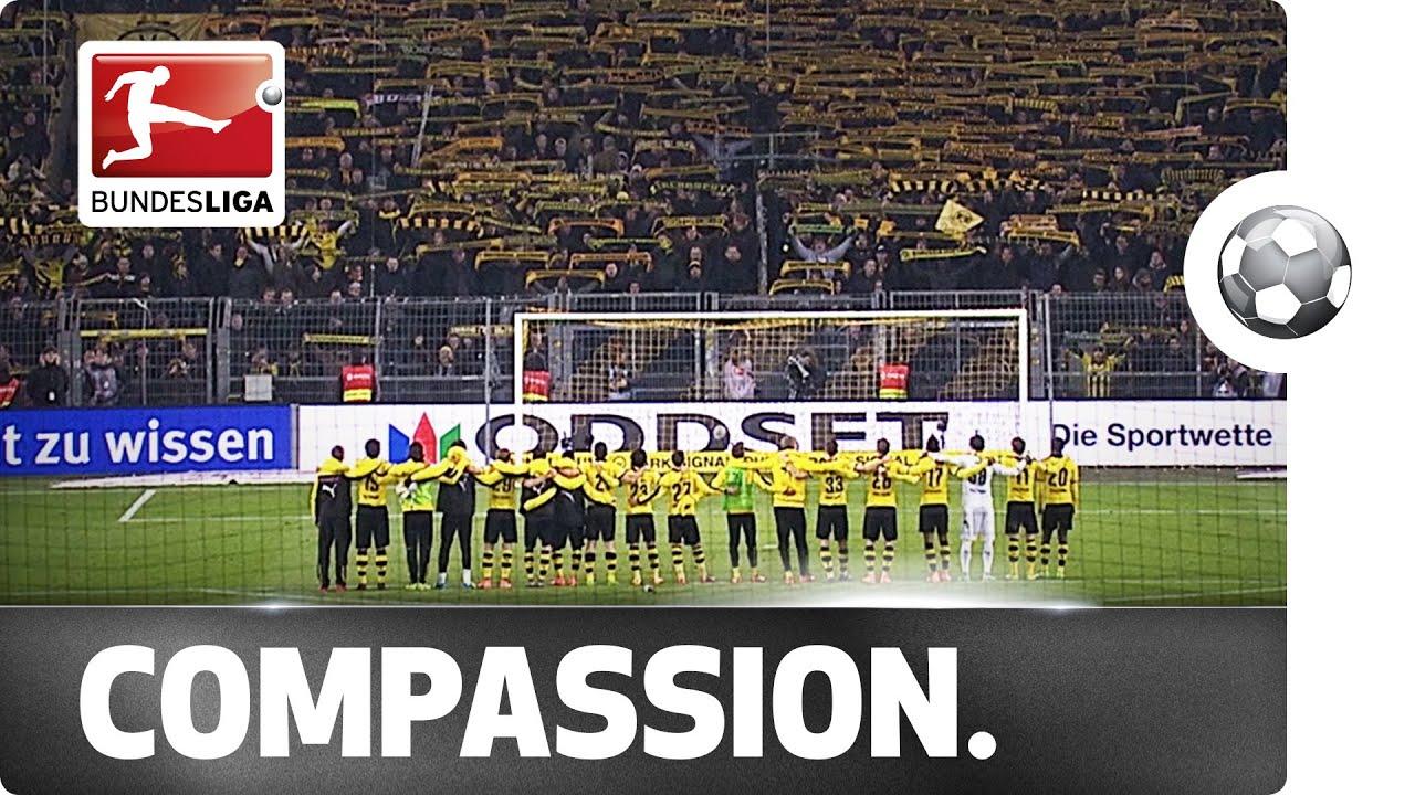 VIDEO – Lo splendido tributo del Borussia Dortmund al tifoso morto allo stadio