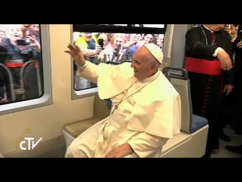Pope abandons Popemobile for eco-friendly tram in Krakow