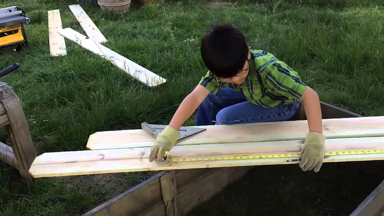 Garden Box Ideas ana white counter height garden boxes by janet fox diy projects Diy Garden Box For Under 10 Part 2 Measuring And Cutting Wood Gardening Ideas How To Build
