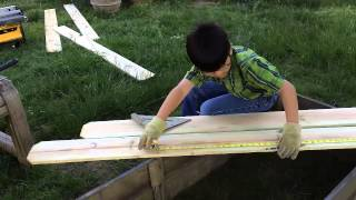 Diy Garden Box For Under $10 (part 2) - Measuring And Cutting Wood: Gardening Ideas & How To Build