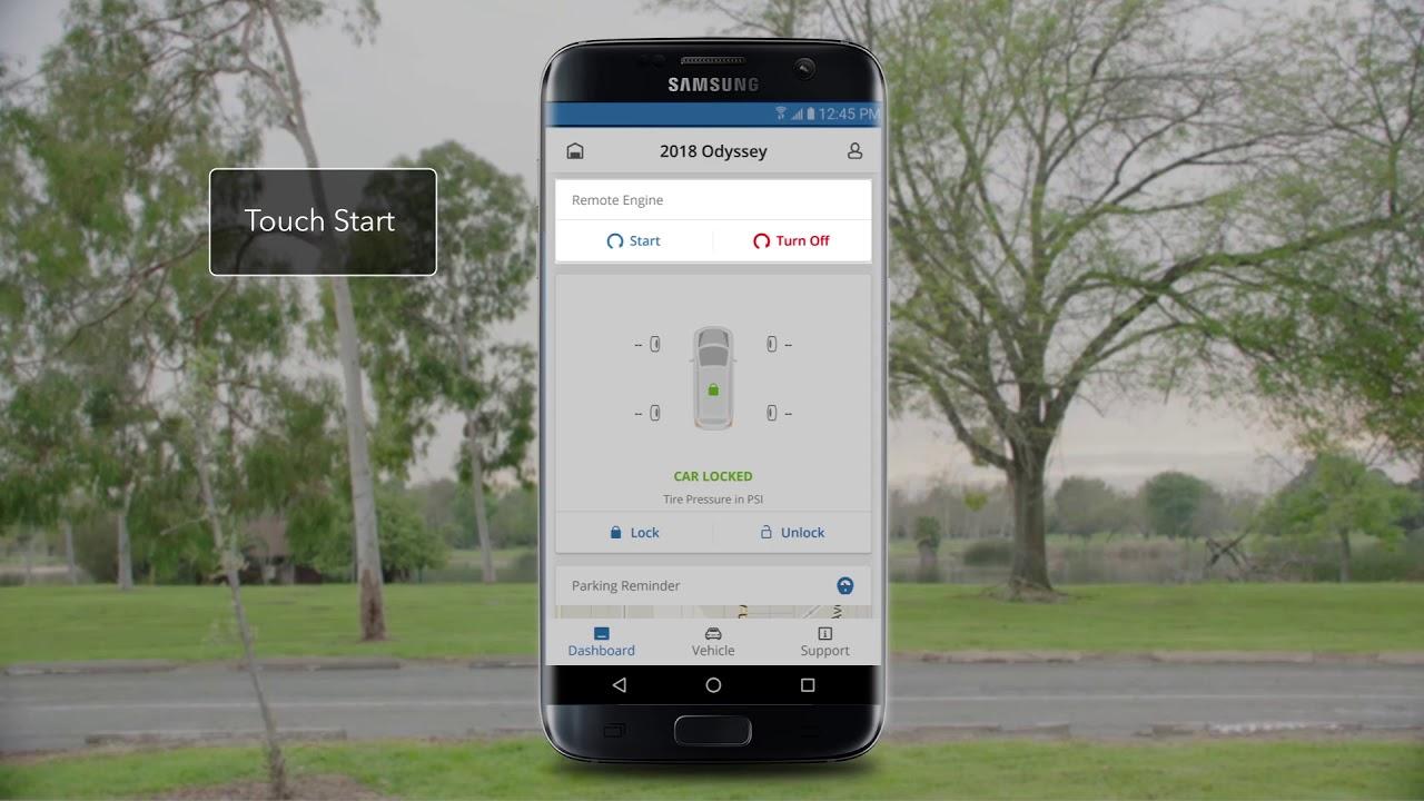 2018 Honda Odyssey How To Use Hondalink Remote Start Youtube