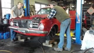 1964 barracuda small block first start