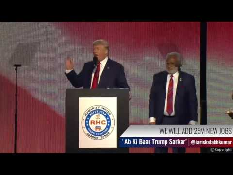 TRUMP LEADS POLLS: Shalabh Kumar's TRUMP SARKAR campaign woos Indian American votes