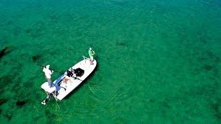 Fishing on the Flats in the Bahamas for Bonefish at Old Bahama Bay - 4K