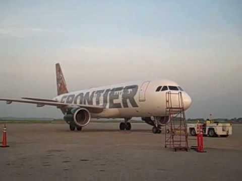 Frontier Airlines' Airbus 320 departs from CAK!