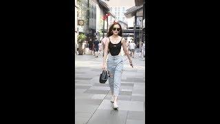 杭州街拍清纯美女,有喜欢的赶紧领回家