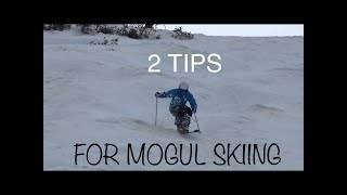 Two tips for mogul skiing...