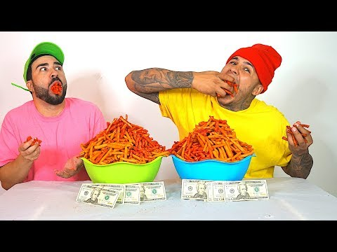 HOT & SPICY TAKIS CHALLENGE!!! $500 CASH BET!!! (WORLD'S HOTTEST CHIPS)