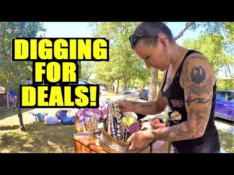 Ep16: SILVER, GOLD & ANTIQUE FINDS AT THESE YARD SALES! - The ORIGINAL GoPro Yard Sale Vlog!
