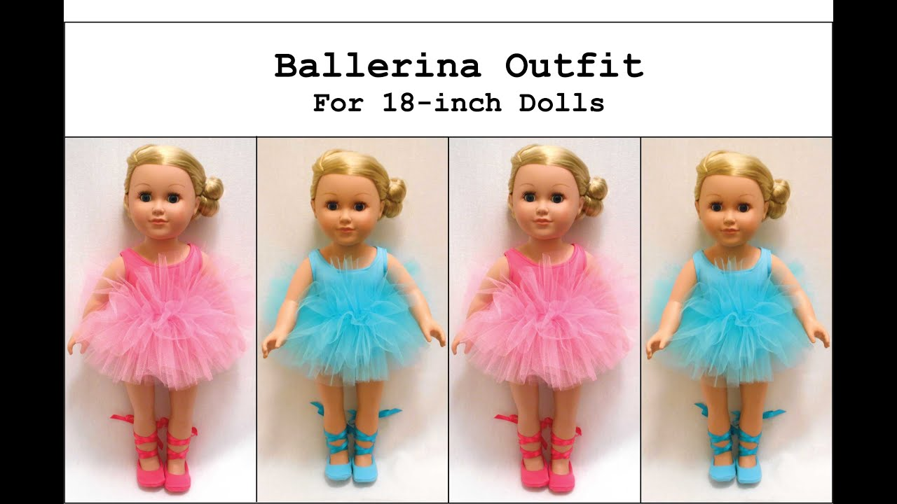 242e4115d How to Make a Ballerina Tutu Outfit for an 18-inch Doll (like an ...