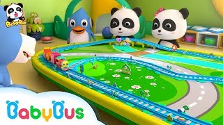 Video Baby Panda Learns How to Play Toy Train | Color Song | Nursery Rhymes | Kids Songs | BabyBus download MP3, 3GP, MP4, WEBM, AVI, FLV September 2019