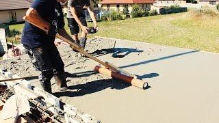 Měření výšky betonu a snadné urovnání betonu pomocí KG trubky