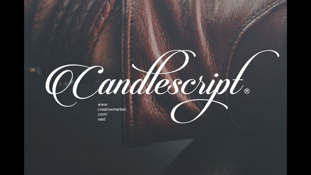 How to use the candlescript font youtube