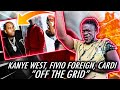 FIVIO LOST IT! | Kanye West - Off The Grid (Lyrics) ft. Playboi Carti & Fivio Foreign (REACTION)