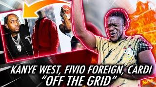 FIVIO LOST IT!   Kanye West - Off The Grid (Lyrics) ft. Playboi Carti & Fivio Foreign (REACTION)