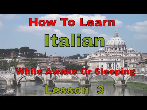 How To Learn Italian While Sleeping Or Awake Lesson 3 (parts of the body)