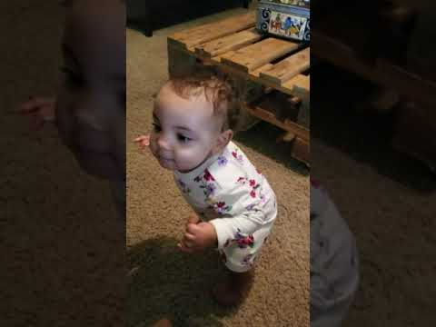 9 month old daughter dancing to Ciara's 'Level Up'. Too doggone cute!!!😘😍😍