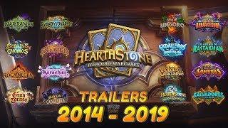 TODOS LOS TRAILERS DE HEARTHSTONE (2014-2019) HD