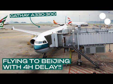 CATHAY PACIFIC A330 300 ECONOMY CLASS CX312 HONG KONG - BEIJING
