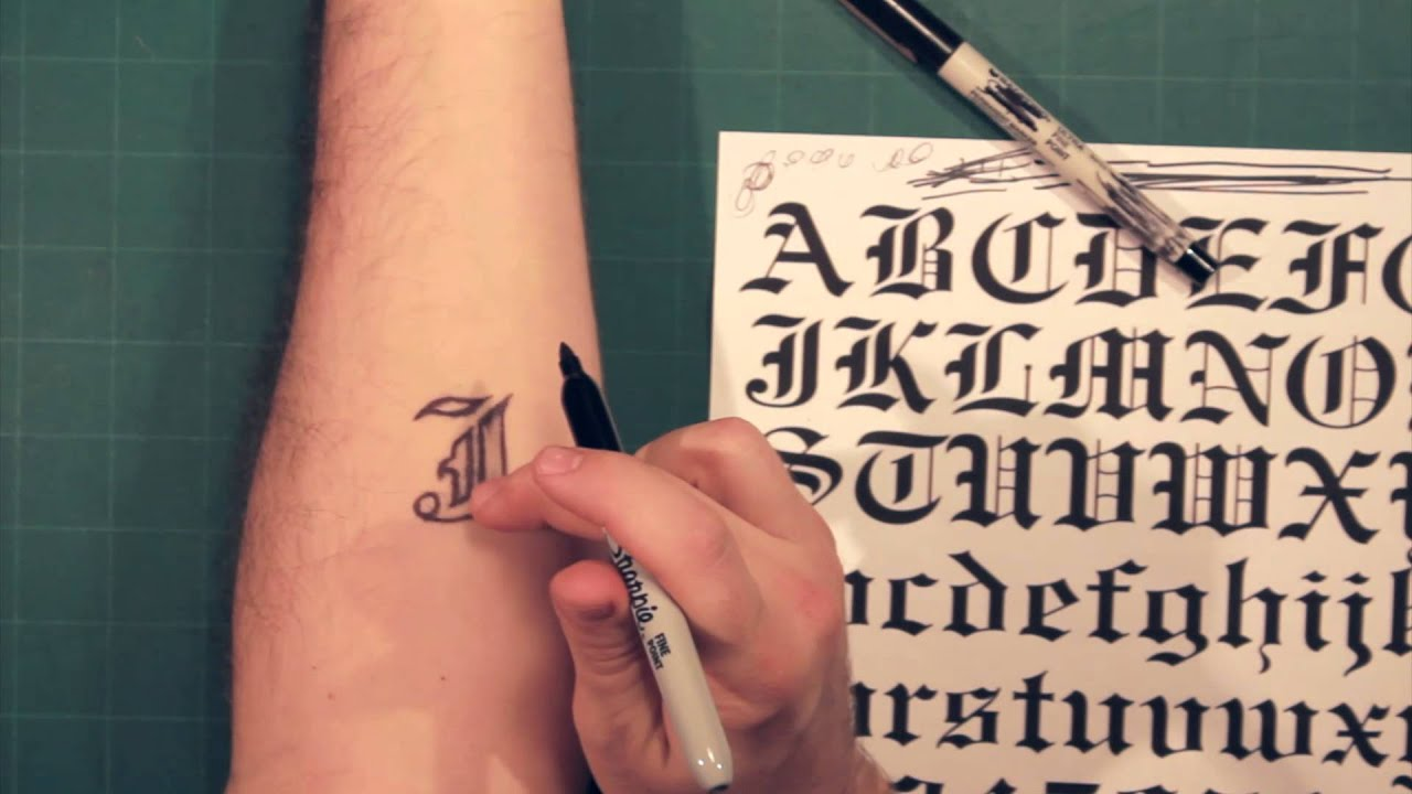 Sharpie Tattoo Lettering And Fonts How To