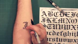 Video Sharpie Tattoo: Lettering and Fonts How-To download MP3, 3GP, MP4, WEBM, AVI, FLV Agustus 2018