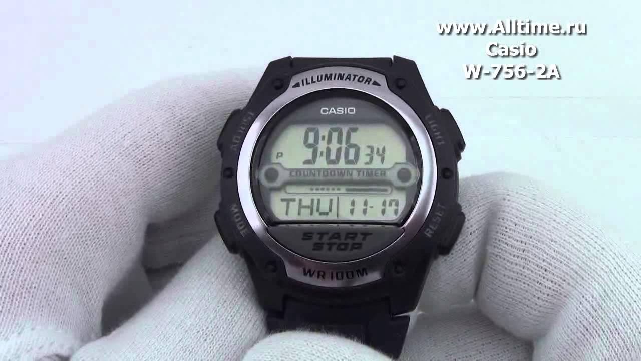 9509ff00767 Мужские японские наручные часы Casio W-756-2A - YouTube