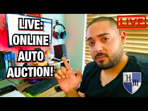 Manheim Online Auction - FACEBOOK LIVE - Showing How The Online Auto Auction Works