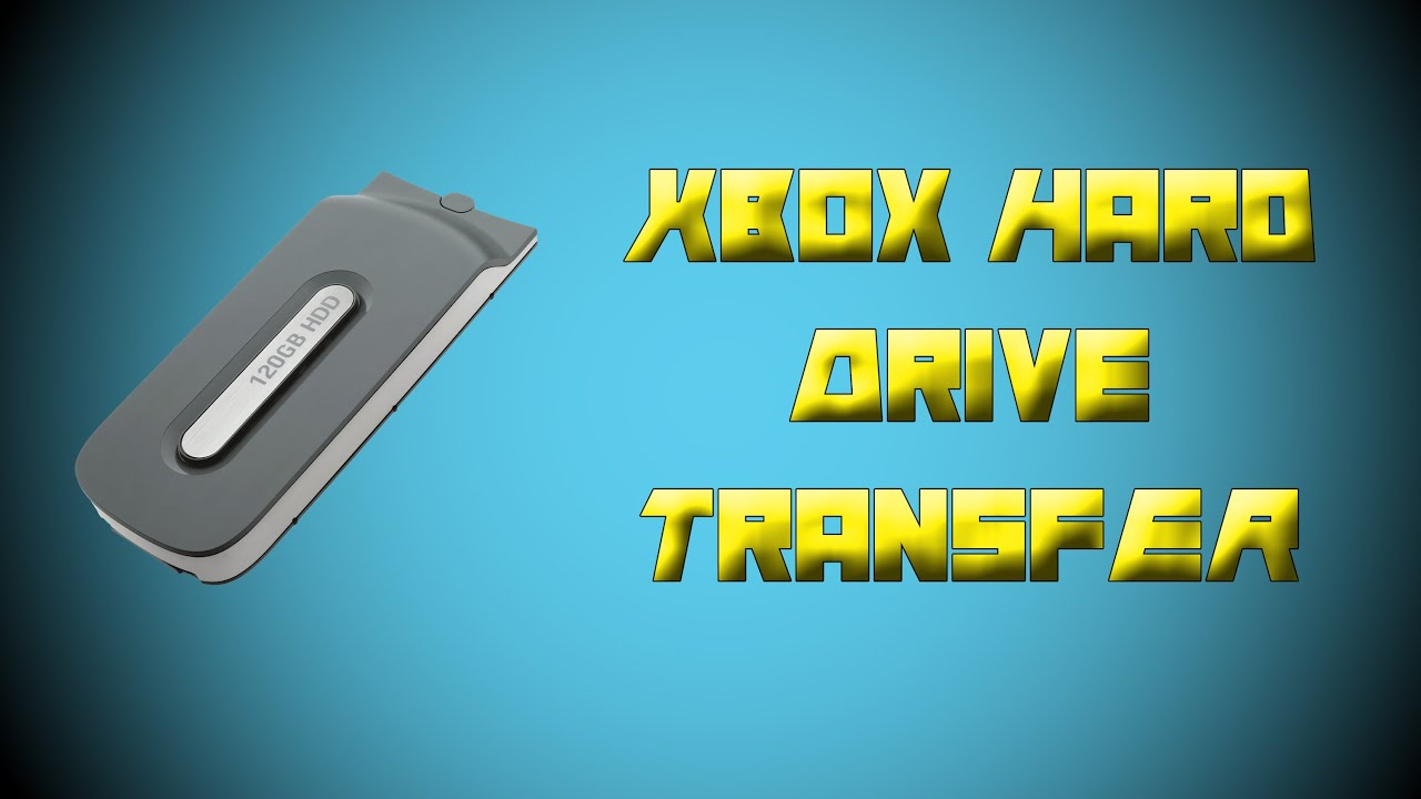 how to transfer memory from one xbox harddrive to another