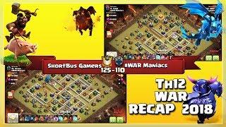 ShortBus Gamers Vs #WAR Maniacs | TH12 War Recap #51 | Clash Of Clans | 2018 |