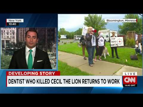 Cecil the lion's killer goes back to work at US Dental Clinic