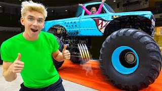 CRUSHING 10,000 POUNDS with WORLDS BIGGEST HOT WHEELS MONSTER TRUCK!!