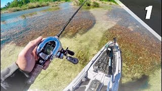 Fishing SUPER Clear River With Topwater Frogs │ Devils River Series Pt. 1
