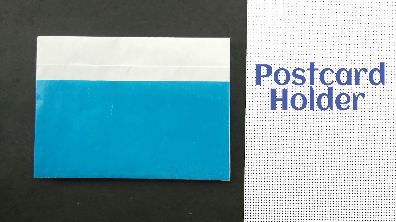origami paper quotpostcard holderpouchquot easy to make