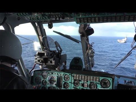Ка 52К и Ка 29-полёты и стрельба вертолетов палубной авиации ТАВКР  Адмирал Кузнецов