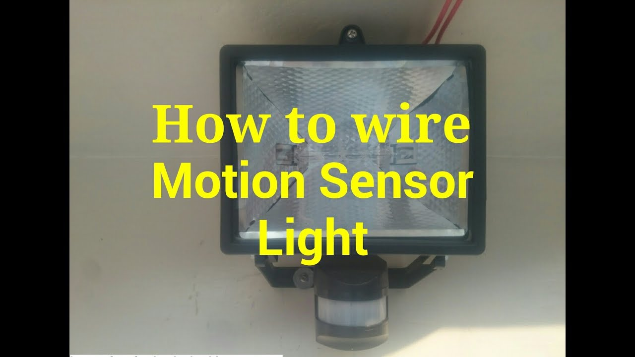 How To Wire Motion Sensor Light Installation And Wiring Of Activated Diagram