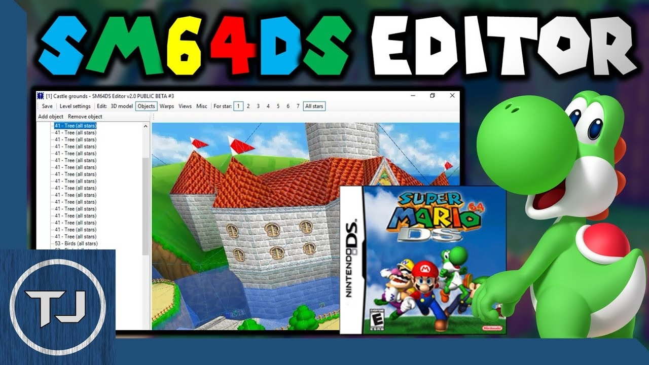 How To Use Super Mario 64 DS Editor! (Works On R4 Card)
